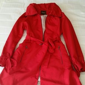 Red Cole Haan Trench Coat