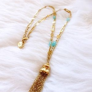 Lydell NYC Jewelry - + LYDELL NYC gold tassel double layer necklace +