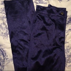 Topshop navy blue disco pants