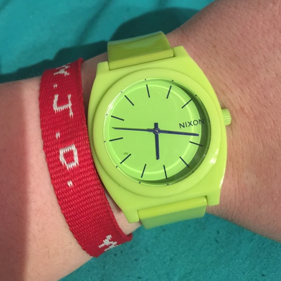 83% off Nixon Other - Lime Green Nixon watch-men or woman's NEW ...