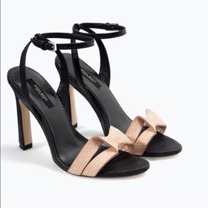 Zara High Heeled Sandals sizes 6&8
