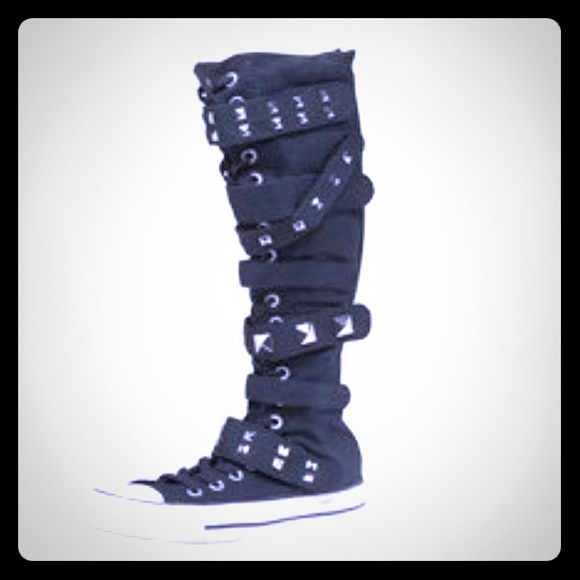 2c508273543 Converse Shoes - Converse High Top Tall Boot Black