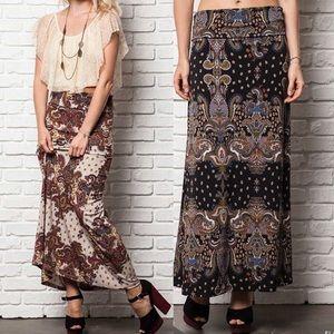 Dresses & Skirts - The LORELEI paisley print maxi skirt - BLACK