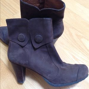 JUST REDUCED - Brown Suede Ankle Boots by One of 2