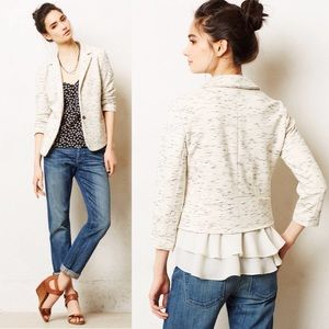 ANTHROPOLOGIE Chiffon Ruffled Jacket