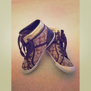 Coach high tops. NWOT