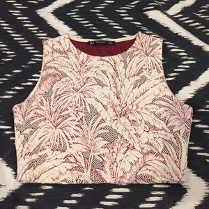 Zara Tops - NWOT Zara Palm Tree Crop Top