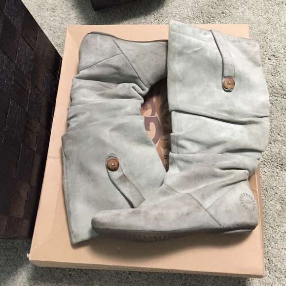 0ad3be03f06 UGG highkoo grey suede boots