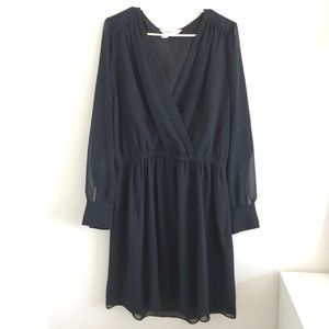 BCBG black chiffon dress size L