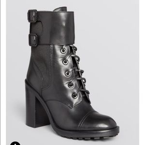 Tory burch combat booties