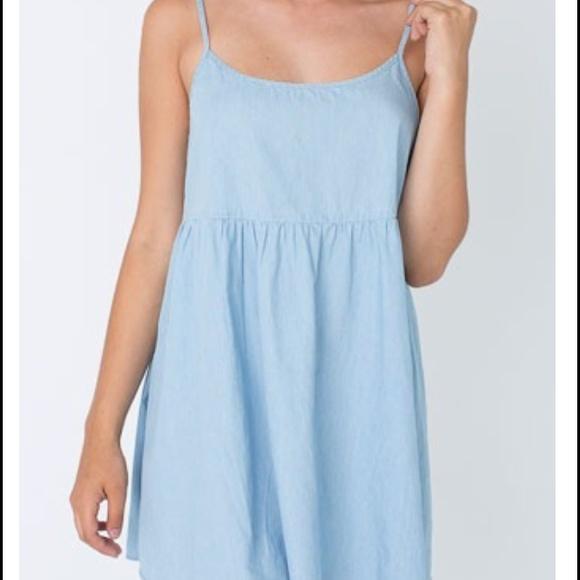 bc3d8c7807 Denim Spaghetti Strap Babydoll Dress