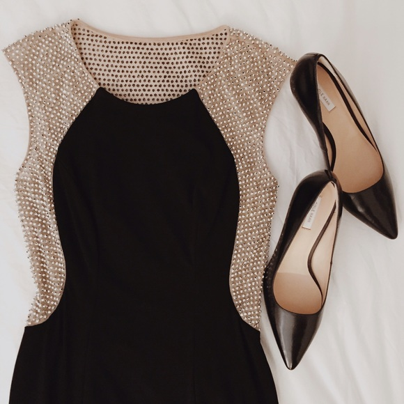 Cache Dresses | Sale Hp Illusion Cap Sleeve Gown | Poshmark
