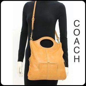 COACH Tan Leather Convertible Tote FABULOUS