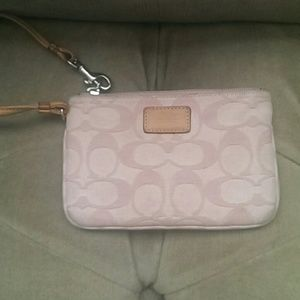 Coach Handbags - Pink signature coach wristlet