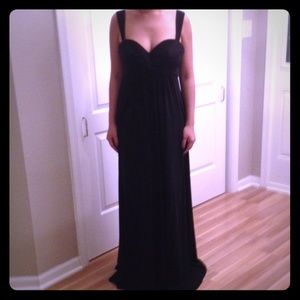 BCBG black evening dress
