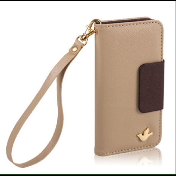 half off 436cf 09900 iPhone 6 Case Wallet Wristlet Pu Leather Brown New NWT