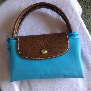 Longchamp Le Pliage Small Tote - Azure Blue
