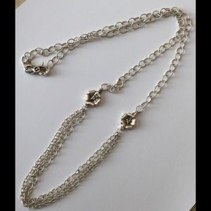 Jewelry - Sterling Silver and Diamond Accents Necklace