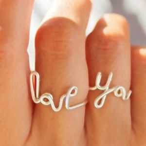 Love You Rings set adjustable