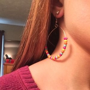 Jewelry - Multicolored hoop earrings
