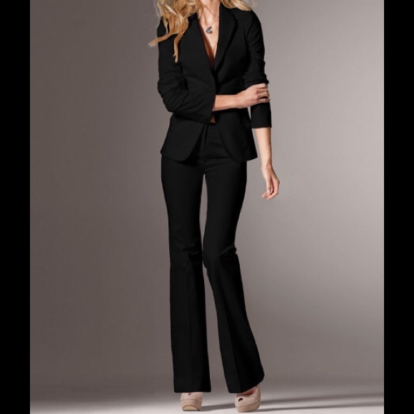 78% off Victoria's Secret Pants - Classy Black Velvet Pants from ...
