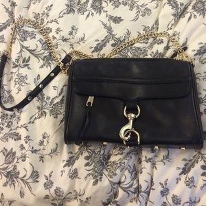 Rebecca Minkoff MAC black with gold hardware