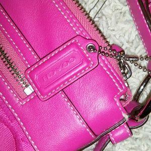 Beautiful fushia coach bag