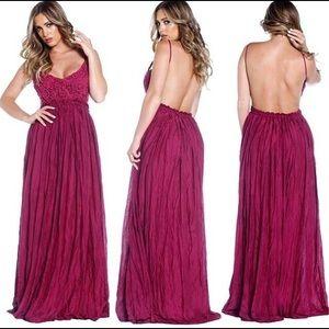 Dresses & Skirts - Gorgeous raspberry backless dress