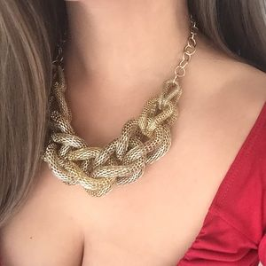 Express gold braided necklace