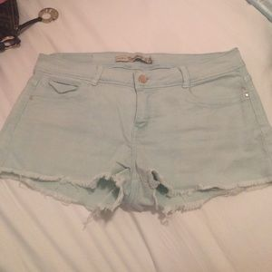 Tiffany blue Zara shorts!