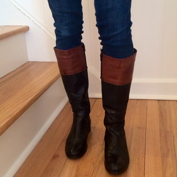 two tone black brown boots 7 from s