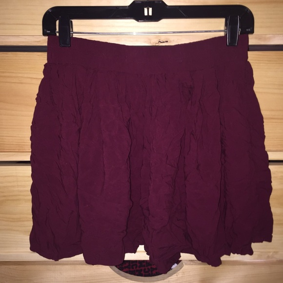 047ed046a42 Aeropostale Dresses   Skirts - Maroon Bethany Mota skater Skirt