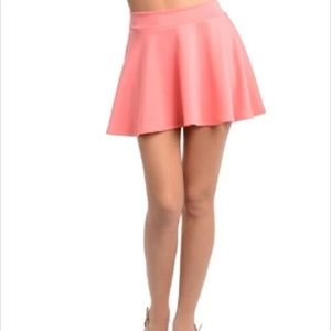 New Mini Pink Circle Skater Skirt One Size XXS-S