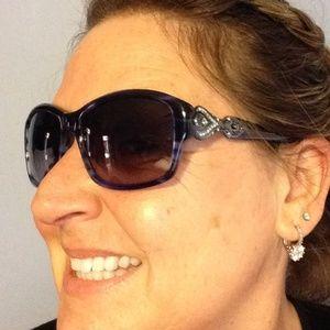 Judith Leiber Accessories - ☀️Like a Boss Blue Judith Leiber Sunglasses☀️