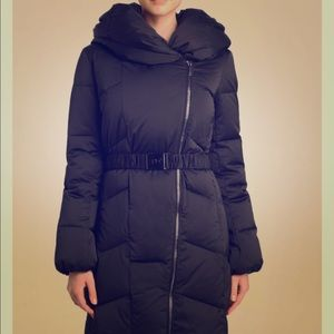 DVF black winter coat