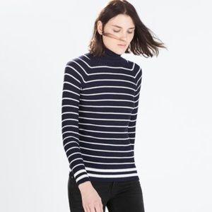 Zara Striped turtleneck sweater