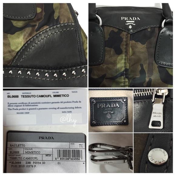 19% off Prada Handbags - PRADA TESSUTO CAMO BOWLER SATCHEL from ...