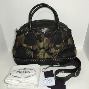 Prada Handbags - PRADA TESSUTO CAMO BOWLER SATCHEL