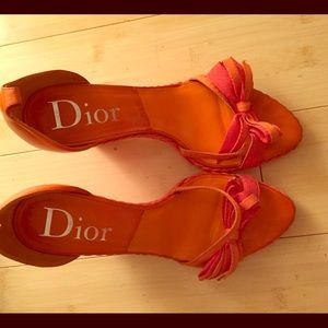 Dior orange wedges.  Flash sale 