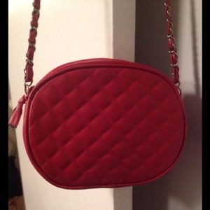 Jennifer Moore Red Quilted Cross-body Purse