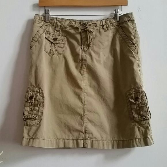 unionbay knee length khaki cargo skirt from s