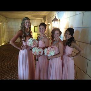7394a6842067 J. Crew Dresses | J Crew Silk Chiffon Arabelle Gown Misty Rose ...