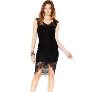 NWT FREE PEOPLE Peak-A-Boo Cap-Sleeve Lace Dress