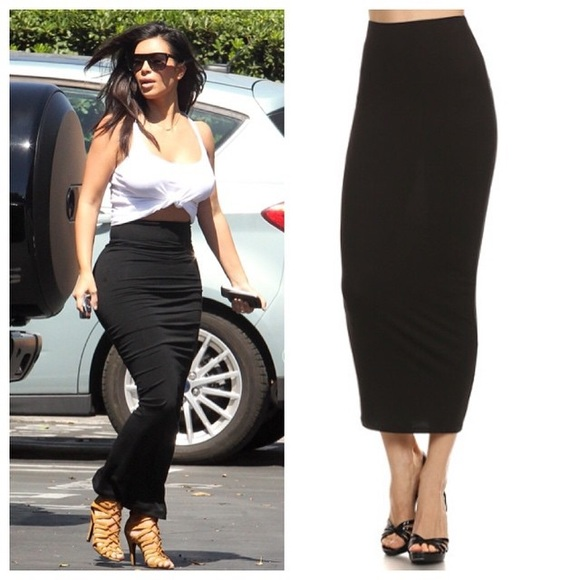 76% off Dresses & Skirts - Medium black long maxi black bodycon ...