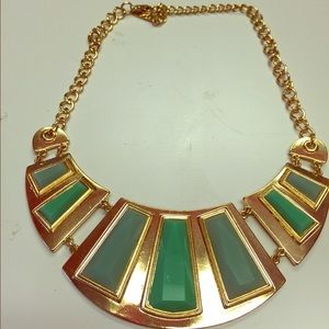 Accessories - Turquoise gold necklace