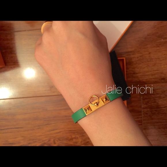 Hermes Accessories , ❌sold❌BNIB Hermes micro rivale bracelet bamboo