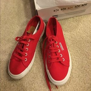 Superga for madewell red sneakers
