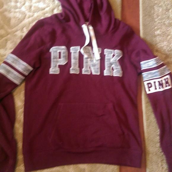 PINK Victoria's Secret - Sold Victoria's Secret Pink maroon hoodie ...