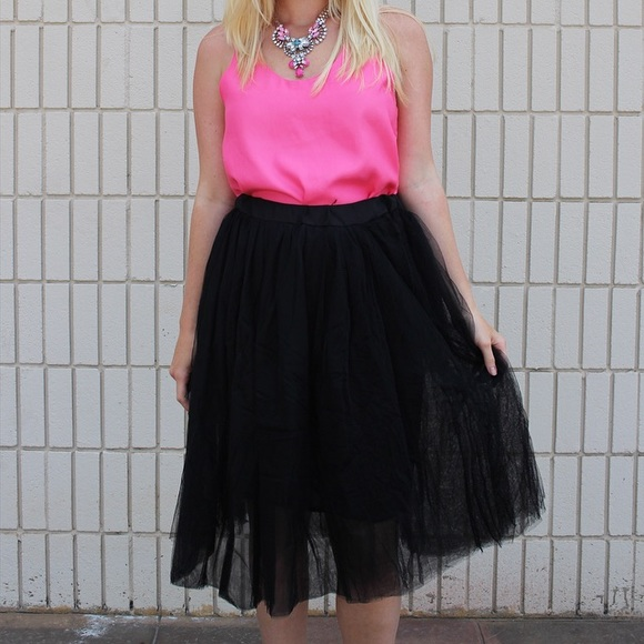 Dresses & Skirts - ❤️❤️SALE ❤️❤️ Tutu tulle full skirt black white