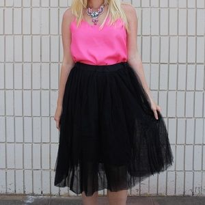 Skirts - ❤️❤️SALE ❤️❤️ Tutu tulle full skirt black white